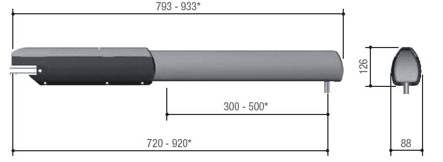 Габаритные размеры Came ATI 5000